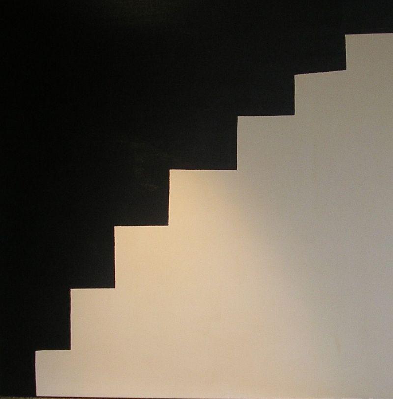 Escalier noir blanc