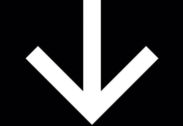 Fleche-vers-le-bas-dans-un-carre-noir--symbole-ios-7-de-l&-39;interface_318-34335